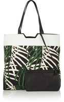 Proenza Schouler Paper Bag Leather-paneled Printed Cotton-canvas Tote - Lyst