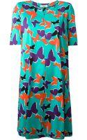 Yves Saint Laurent Vintage Butterfly Print Tunic Dress - Lyst