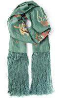 Isabel Marant Embroidered Scarf - Lyst