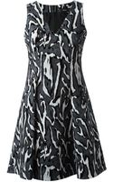Proenza Schouler Wood Grain Print Dress - Lyst