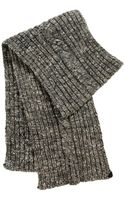 New Man Cable Knit Beige Scarf - Lyst