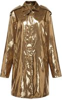 MSGM Laminated Canvas Trench Coat - Lyst