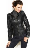 Marc New York Molly Leather Moto Jacket - Lyst