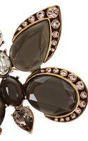 Oscar de la Renta Goldtone Crystal Butterfly Brooch - Lyst