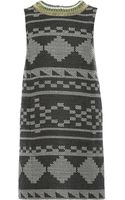 Matthew Williamson Embroidered Jacquard Knit Mini Shift Dress - Lyst