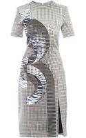 Dion Lee Axis Print Silk Dress - Lyst