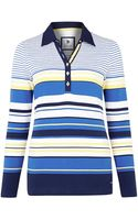 Dash 34 Sleeve Striped Rugby Top - Lyst