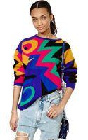 Nasty Gal Vintage Go Geo Sweater - Lyst