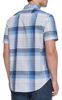 Robert Graham Frangelico Plaid Shortsleeve Shirt Blue - Lyst