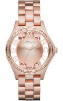 Marc By Marc Jacobs Womens Henry Skeleton Rose Gold-tone Stainless Steel Bracelet Watch 34mm - Lyst