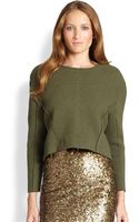 Alice + Olivia Trevor Cropped Wool Pullover - Lyst