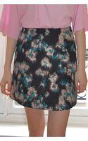 MSGM Printed Short Skirt - Lyst