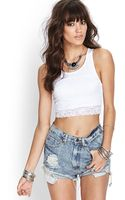 Forever 21 Floral Lace Crop Top - Lyst