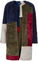 Topshop Faux Fur Patchwork Throw On Coat - Lyst