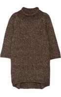 Victor Alfaro Oversized Metallic Knitted Sweater - Lyst