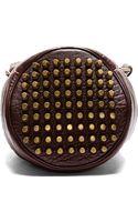 Alexander Wang Burgundy Leather Studded Diego Bucket Bag - Lyst