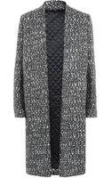 Nicole Farhi Graphic Tweed Coat - Lyst