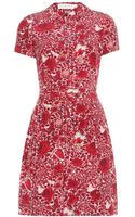 Tory Burch Kendra Printed Silk Dress - Lyst