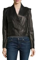 Alexander Wang Shawl-collar Leather Motorcycle Jacket - Lyst