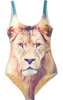 We Are Handsome Lion Print Swimsuit - Lyst