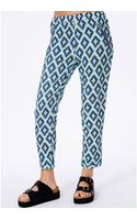 Missguided Slania Blue Aztec Print Trousers - Lyst