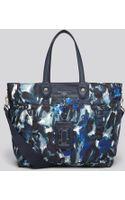 Marc By Marc Jacobs Diaper Bag Preppy Nylon Painterly Blue Print Elizababy - Lyst