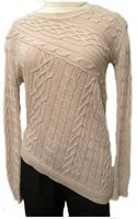 Acrob At Diagonal Cable Sweater in Straw - Lyst