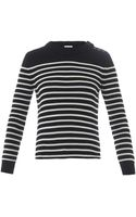 Saint Laurent Breton Stripe Cottonknit Sweater - Lyst