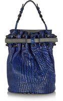 Alexander Wang Diego Texturedleather Bucket Bag - Lyst