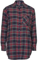 Topshop Oversized Check Shirt - Lyst