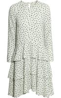 H&M Patterned Frilled Dress - Lyst