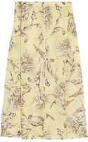 Topshop Unique Printed Silk-georgette Skirt - Lyst