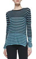Vince Striped Longsleeve Knit Sweater - Lyst