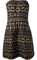 Dolce & Gabbana Strapless Quilted Dress - Lyst