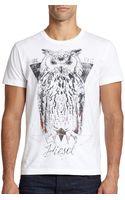 Diesel Owl Graphic Tee - Lyst