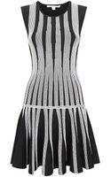 Diane Von Furstenberg Celine Striped Flare Dress - Lyst