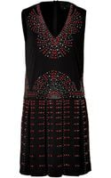 Anna Sui Studded Shift Dress - Lyst