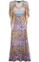 Missoni Printed Beach Dress - Lyst