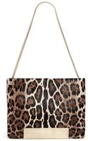 Jimmy Choo Carrie Calf Hair Leopard Foldover Bag - Lyst