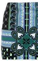 Emma Cook Paisley Print Techno Jersey Pencil Skirt - Lyst