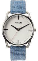 Nixon Washed Denim and Cream Watch Mellor - Lyst