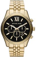 Michael Kors Mens Lexington Goldtone Chronograph Watch - Lyst