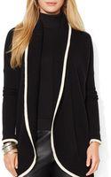 Ralph Lauren Lauren Open Front Cashmere Sweater - Lyst