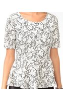 Forever 21 Floral Butterfly Peplum Top - Lyst