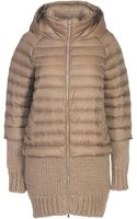 Stefanel Jacket with Knitted Details - Lyst