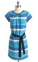 Tommy Hilfiger Striped Belted Tunic - Lyst