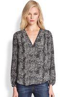 Joie Padma Printed Silk Blouse - Lyst