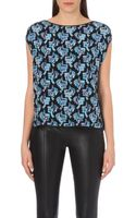 Emilio Pucci Butterfly-print Silk Top - Lyst