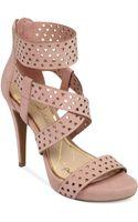 Jessica Simpson Chinah Laser Cut Platform Sandals - Lyst