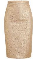 No 21 Metallic Lace Pencil Skirt - Lyst